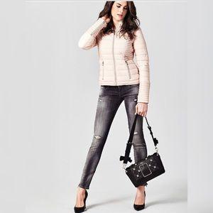 Guess Caroline Studded Shoulder/ Clutch Bag